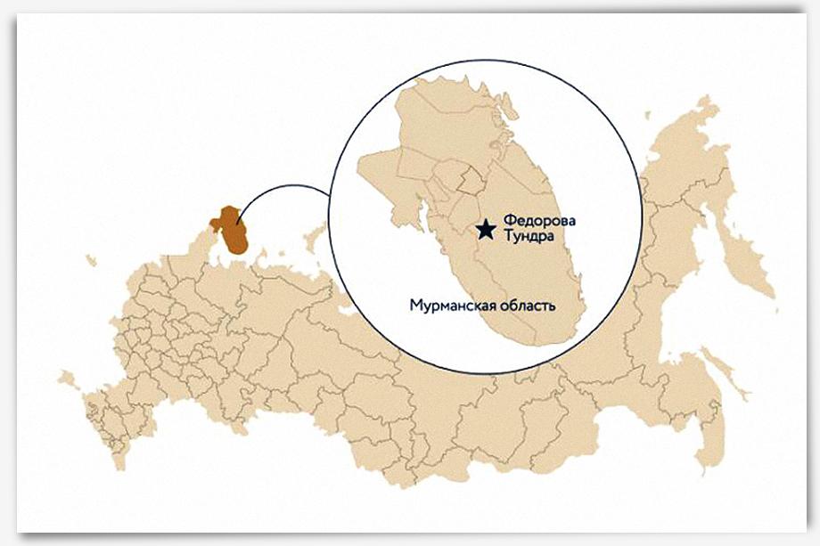 Крупнейшее месторождение металлов платиноидной группы «Фёдорова тундра» известно ещё с советских времён, но освоение залежей так пока и не началось.
