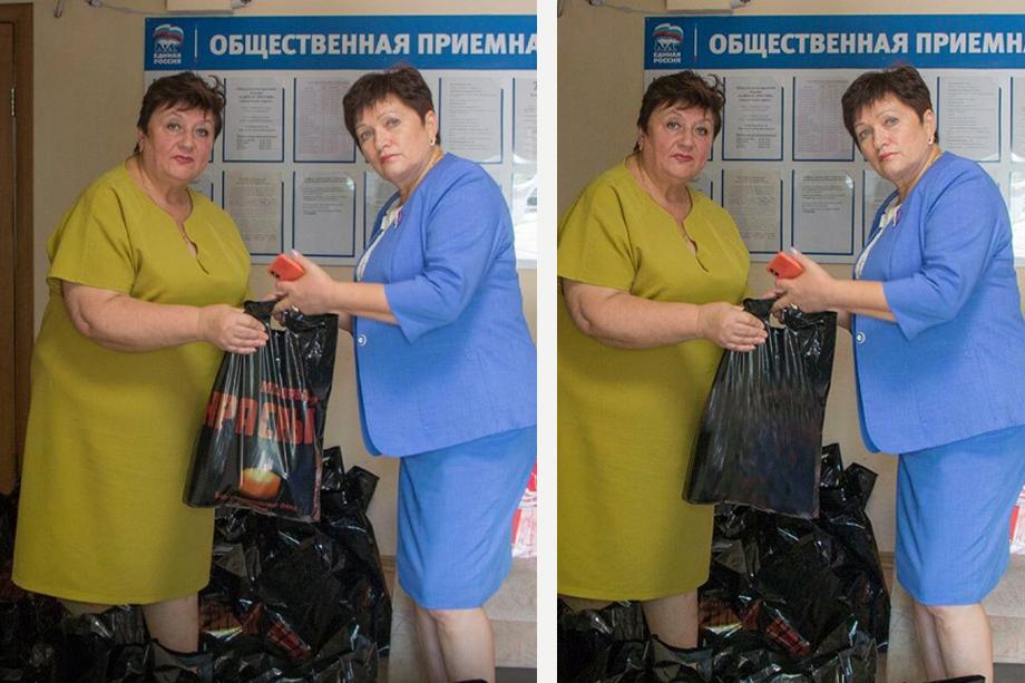 После критики в соцсетях логотип «Красного» с пакетов убрали, но на следующий день Ольга Солодилова снова опубликовала у себя на страничке фотографии с нетронутым логотипом концлагеря.