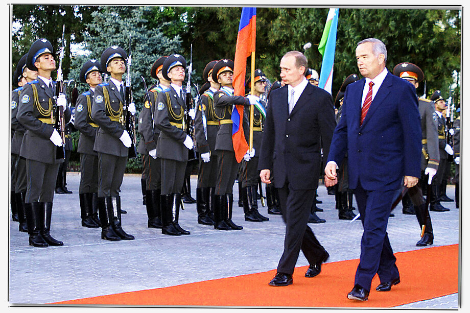 Первый визит молодого президента Российской Федерации Владимира Путина после инаугурации был в Среднюю Азию.