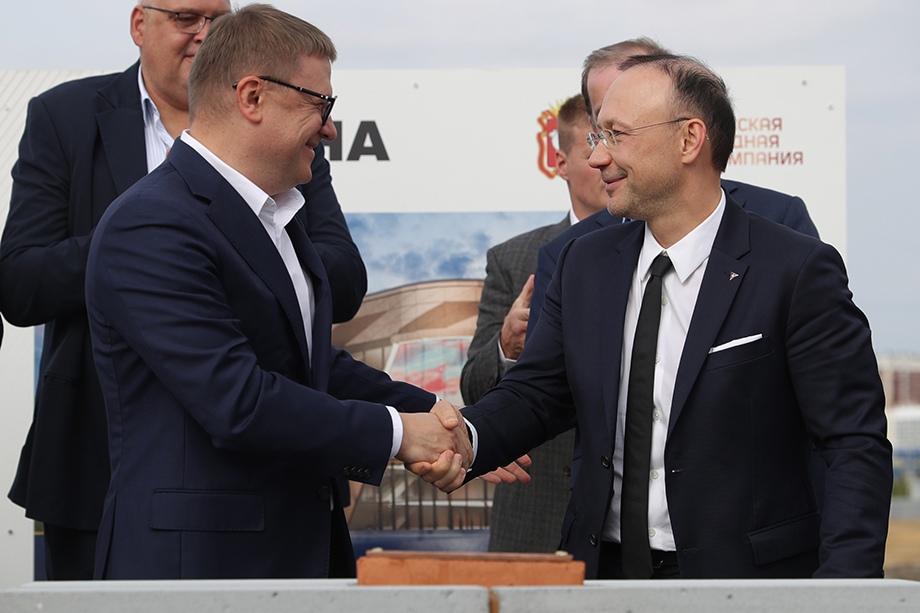 В церемонии приняли участие губернатор Алексей Текслер и председатель Совета директоров РМК Игорь Алтушкин.