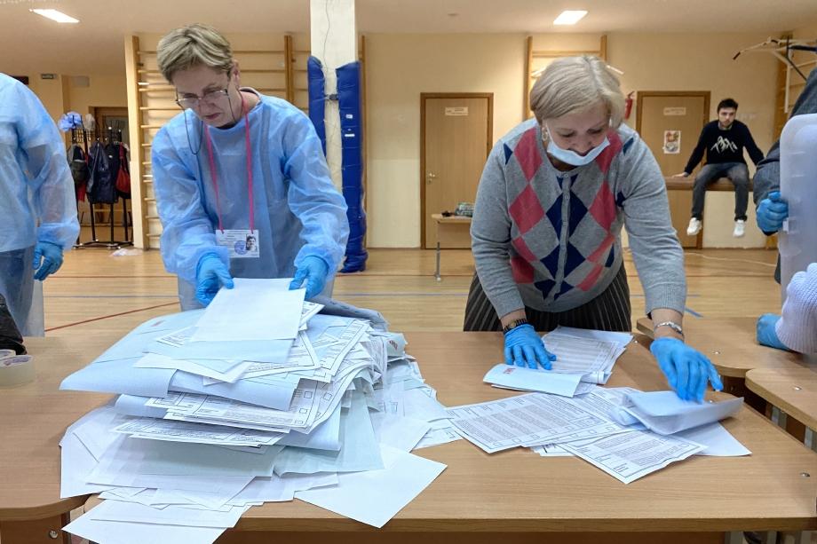 После обработки 25,03 процента протоколов на выборах в Госдуму партия «Единая Россия» набирает 44,26 процента голосов.