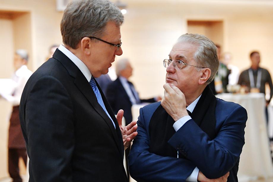 Алексей Кудрин и директор Эрмитажа Михаил Пиотровский.