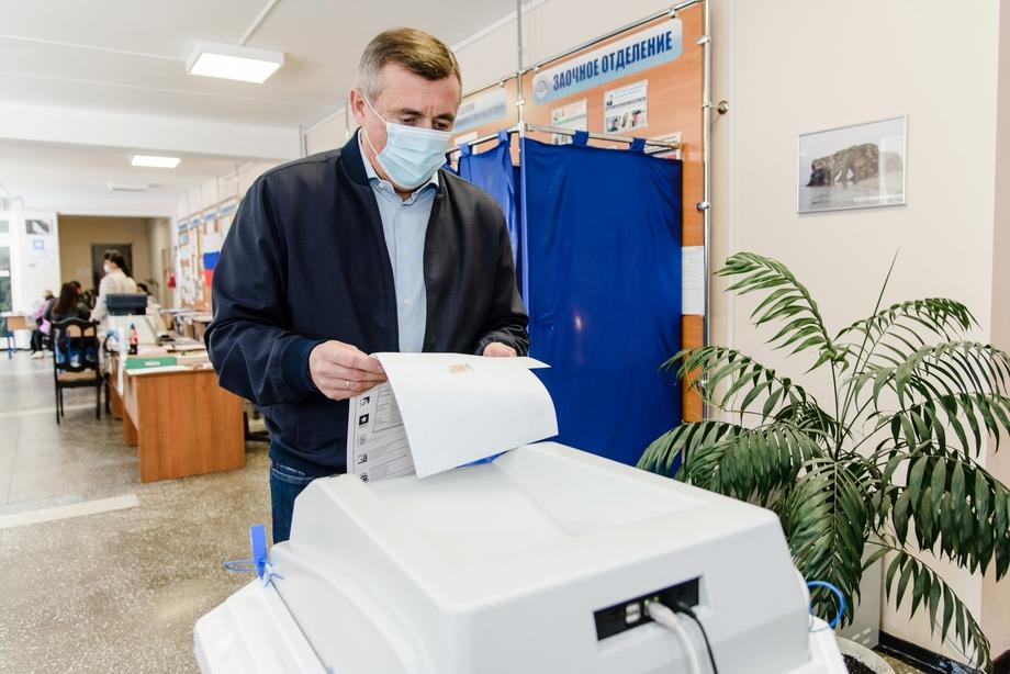19 сентября 2021 года. Валерий Лимаренко, губернатор Сахалинской области, ранее служивший в Нижегородской, на выборах депутатов Государственной Думы РФ.