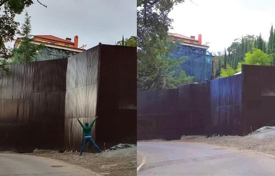 Забор не должен быть выше двух метров.