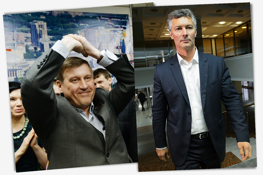 Некоторое время назад появился тревожный для власти тренд на избрание мэрами столиц регионов оппозиционеров: в 2013 году мэром Екатеринбурга стал Евгений Ройзман (на фото справа), а в 2014 году коммунист Анатолий Локоть (на фото слева) возглавил Новосибирск.
